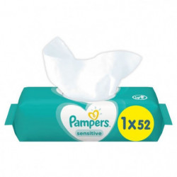 PAMPERS Lingettes bébé SENSITIVE - 52 lingettes