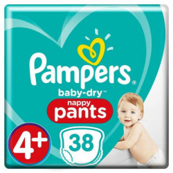 PAMPERS Baby Dry Pants Taille 4+, 9-15 kg, 38 couches culott