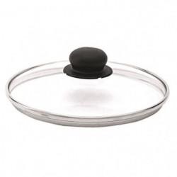 BEKA Couvercle performance verre - Bord inox - Ø 20 cm - Gri