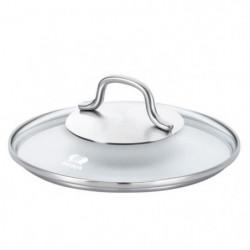 BEKA Couvercle en verre Royal - Ø 14 cm - Transparent et gri