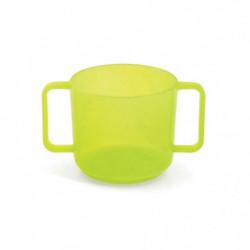 PLASTOREX Tasse à Anses Micro-Ondable Polypropylene Tilleul
