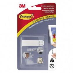 3M COMMAND Languettes de fixation - Petit modele - Blanc