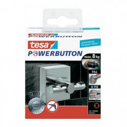 TESA Crochet double Powerbutton Deluxe - Carré - Métal - 8 k