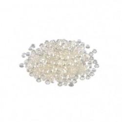 Perles de pluie décoratives - 110 g - 6 à 7 mm - Beige écru