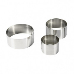 EQUINOX Lot de 3 emportes pieces 6-8-10 cm gris