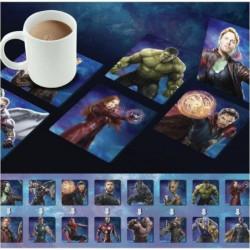 4 Dessous de verre lenticulaires Marvel: Avengers Infinity W