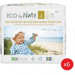 NATY - Lot de 6 paquets de couches Taille 4 Maxi 7-18 kg 26