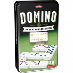 TACTIC Domino Double 6 - Boîte Métal