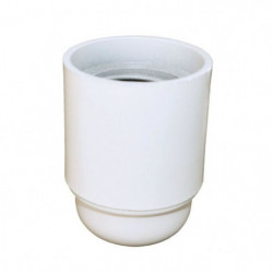 TIBELEC Douille E27 - Blanc lisse