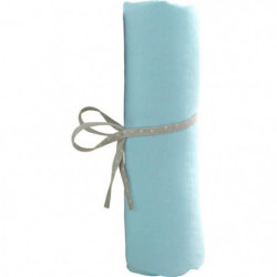 BABYCALIN Drap Housse BébéTurquoise 60 x 120 cm Jersey 130gr
