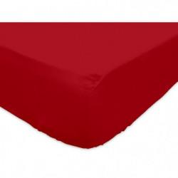 SOLEIL d'OCRE Drap housse 100% Coton 160x200 cm Rouge