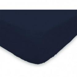 SOLEIL d'OCRE Drap housse 100% Coton 160x200 cm Marine