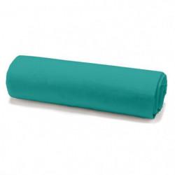 TODAY Drap housse 100% coton - 160 x 200 cm - Vert diabolo m
