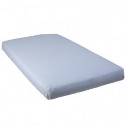 BABYCALIN Drap housse Jersey coton - Bleu ciel - 40 x 80 cm