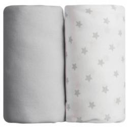 BABYCALIN Lot de 2 draps housse Jersey coton - Impression ét