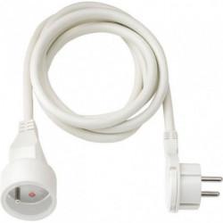 BRENNENSTUHL Rallonge électrique 3m avec fiche plate (câble