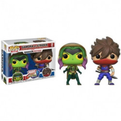 2 Figurines Funko Pop! Marvel VS Capcom : Gamora VS Strider