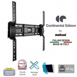 CONTINENTAL EDISON Support TV mural inclinable TV 40-65'' VE