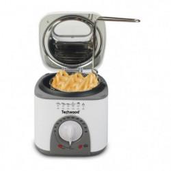 TECHWOOD Mini Friteuse et Appareil à fondu - 950 W - Blanc