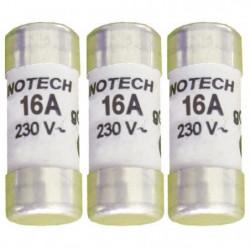 ZENITEHC 3 fusibles céramique 10,3x25,8mm 16A sans voyant