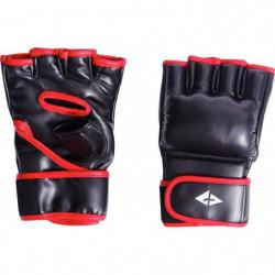 ATHLI-TECH Gants de boxe PU - Noir et rouge