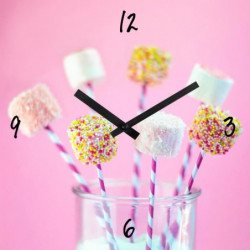ARTIS Horloge en verre Moment'Art 30 cm Gourmand
