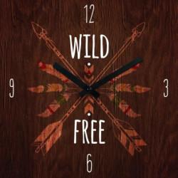 ARTIS Horloge en verre Moment'Art 30 x 30 cm Wild free