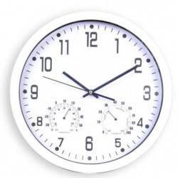 CLOCK Horloge silencieuse thermometre et hygrometre - Ø 35 c
