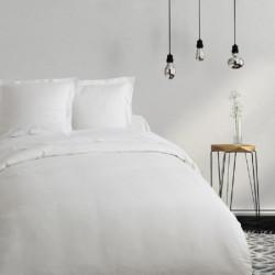 COTE DECO Housse de couette 100% coton 140x200 cm - Blanc