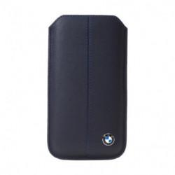 BMW Etui universel en cuir bleu taille S - Bleu