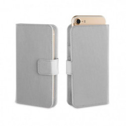 MUVIT SLIDECOVER Folio Universel - Argent - Metal - Taille M