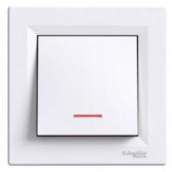 SCHNEIDER ELECTRIC Interrupteur poussoir lumineux encastrabl