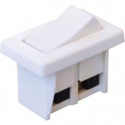 TIBELEC Interrupteur a bascule unipolaire blanc