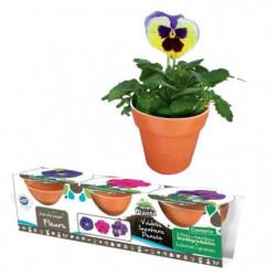 MGM Kit De Jardinage - 3 Pots en Bamboo