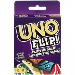 UNO - Flip Side - Jeu de Cartes Famille - Uno avec cartes ré