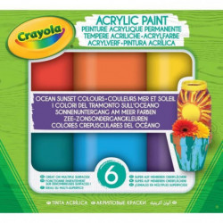 CRAYOLA Peinture acrylique Crayola - Ocean Sunset Colours