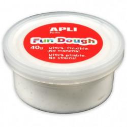 APLI Pâte a modeler Fun Dough - 40 g - Blanc