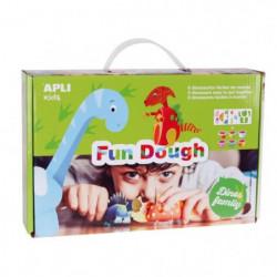 APLI Pâte a modeler dinosaures en Fun Dough - 6 pots - 28 g