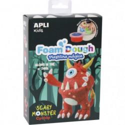 APLI Kit Pâte a modeler en Fun Dough - Monstre rouge