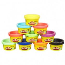 PLAY-DOH - 10 Pots de pâte a modeler - Petits Pots Couleurs