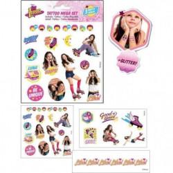 SOY LUNA Mega pack de tatouages - 3 feuilles -  Fille