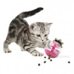 Jouet chat rose à friandises