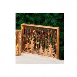 Cadre en bois avec décor lumineux H 35 cm - 30x40x5 cm - Mar