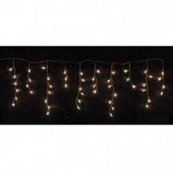 Glaçon étoiles de Noël 50 LEDS - 150 x 50 cm - Blanc chaud -