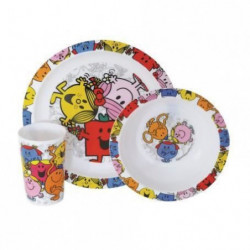 Fun House monsieur madame ensemble repas comprenant 1 assiet