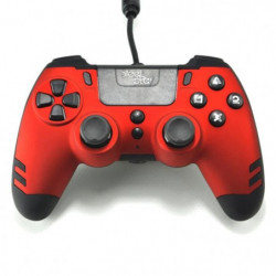 Manette filaire SteelPlay Metaltech Rouge pour PS4