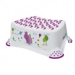 PLASTOREX Marche-Pieds Blanc Violet Décor Hippo