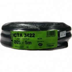 JANOPLAST Gaine ICTA avec tire fil - Diametre 25 mm - 5 m