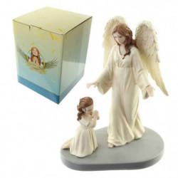 Figurine de décoration ange gardien mere divine