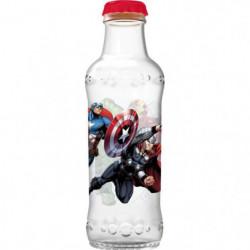 AVENGERS Canette Soda - Bouchon a vis - Plastique -  390 ml